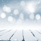Snow-covered table Royalty Free Stock Image