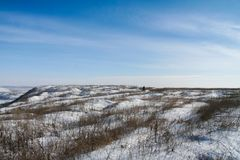 Snow-covered Taurian-steppe Stock Foto