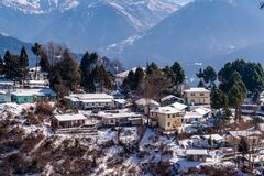 Snow covered Tawang, Arunachal Pradesh, North East India