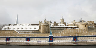 Snow covered Tower of London Royalty Free Stock Images