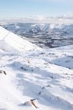 Snow covered valley in winter Stock Photography
