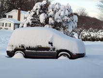 Snow covered vehicle Stock Photography