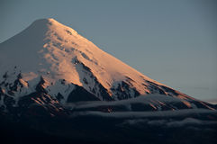 The snow-covered volcano Osorno in Chile Stock Images