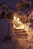 Snow Covered Walkway Stock Image