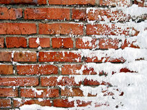 Snow covered wall Royalty Free Stock Photos