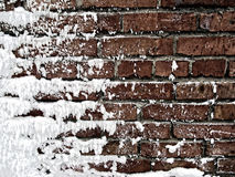 Snow covered Wall Royalty Free Stock Photography