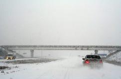 Snow-covered Weg Lizenzfreies Stockfoto