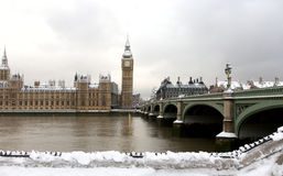 Snow Covered Westminster Royalty Free Stock Photos