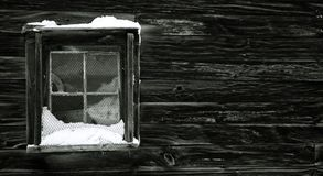 Snow-covered window Stock Photography