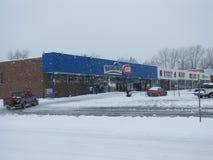 Snow-covered Winkelcentrum Royalty-vrije Stock Afbeeldingen