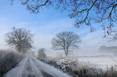 Snow covered winter landscape Royalty Free Stock Images