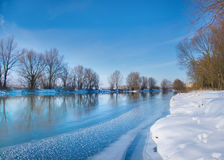 Snow-covered winter river Stock Photography