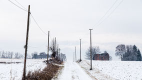 Snow covering an abandoned farm Royalty Free Stock Photos