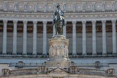Altare della Patria Snowy Statue. Snow covers Altare della Patria, Alter of the Fatherland, in Rome, Italy Stock Image