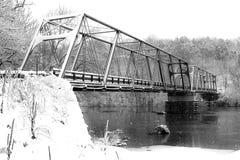 Historic, Snow Covered Truss - Clays Ferry Bridge - Kentucky River - Kentucky stock photos