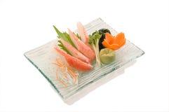 Snow Crab Sashimi Stock Photography