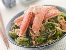 Snow Crab and Soba Noodle Salad stock image
