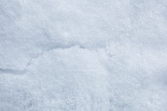 Snow Crack. Snow texture with crack on the surface Royalty Free Stock Photos