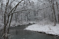 Snow at the creek Stock Image