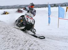 Snow cross-country race Royalty Free Stock Photos