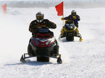 Snow cross-country race. Stock Photos