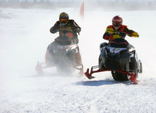 Snow cross-country race. Stock Image