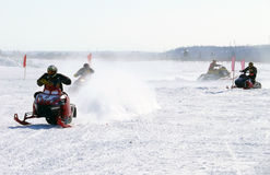Snow cross-country race. Stock Photography