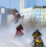 Snow cross-country race. Royalty Free Stock Photography