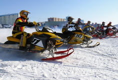 Snow cross-country race. royalty free stock images