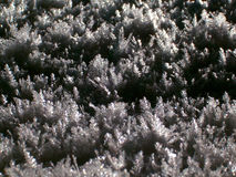 Snow crystal. Details of hoardrost or snow texture; frost looks crystal, macro royalty free stock photo
