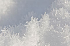Snow Crystal. This image shows a extreme macro from a snow surface stock image