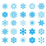 Snow crystal icon sets. Creative Icon Design Series. Stock Photography