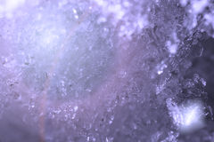 Snow crystals abstract background macro photo Royalty Free Stock Images