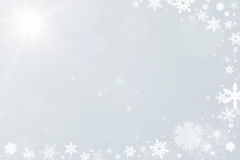 Snow crystals as a background for christmas Stock Photo