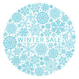 Snow crystals in circle. stock illustration