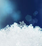 Snow crystals snowfall winter Stock Photo