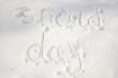 Snow day Royalty Free Stock Images