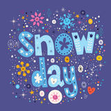 Snow day. Decorative lettering design Royalty Free Stock Images