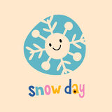 Snow day stock illustration