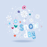 Snow day lettering winter design royalty free illustration