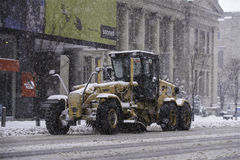 Snow day in Toronto stock photography