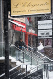 Snow day in Toronto stock images