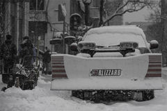 Snow day in Toronto Stock Photo