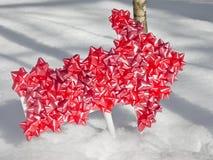 Snow Deep Arrow Royalty Free Stock Photography