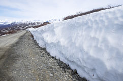 Snow on the Denali Highway Royalty Free Stock Images