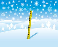 Snow depth measure Stock Images