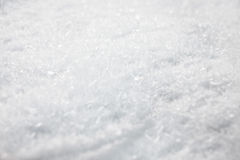 Snow detail. Winter surface, snow carpet detail Stock Photography
