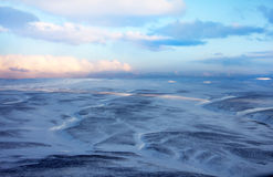 Snow distances of tundra (birds view) 4 Royalty Free Stock Photography
