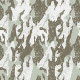 Snow distressed camouflage seamless pattern Stock Photos