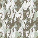 Snow distressed camouflage seamless pattern Stock Photos